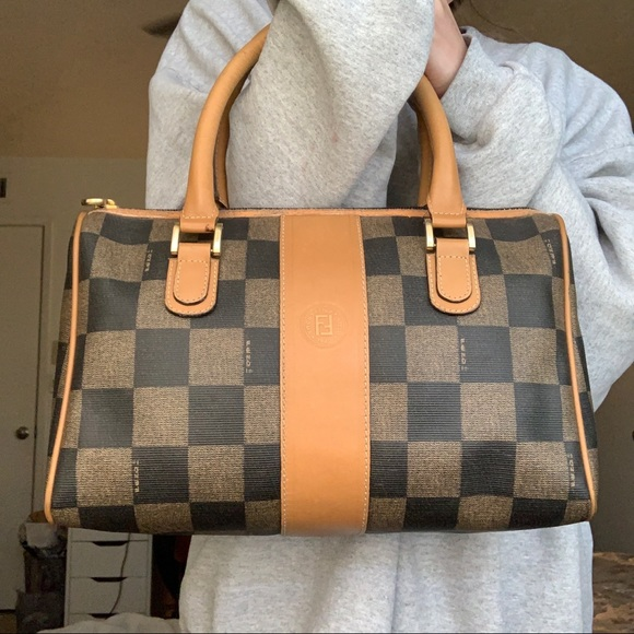 VINTAGE FENDI Boston Bag